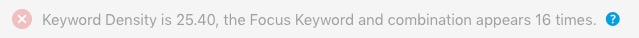 seo keyword density